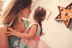 Happy mother and daughter having fun at home Royalty Free Stock Photo