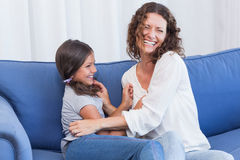 Happy mother and daughter having fun Royalty Free Stock Photo