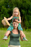Happy mother and daughter having fun together Royalty Free Stock Image