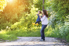 Happy mother and daughter in nature Royalty Free Stock Photography