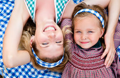 Happy mother with daughter on nature Stock Image