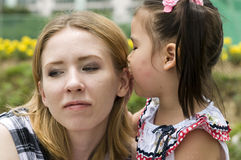 Happy mother and daughter outdoor Stock Photography