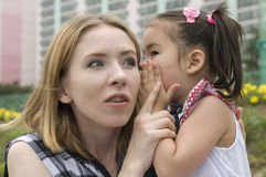 Happy mother and daughter outdoor Royalty Free Stock Photo