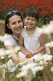 Happy mother and daughter outdoor Stock Images