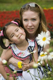 Happy mother and daughter outdoor Royalty Free Stock Photos