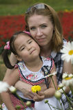 Happy mother and daughter outdoor Stock Photos