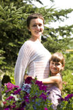 Happy mother and daughter outdoor Royalty Free Stock Images
