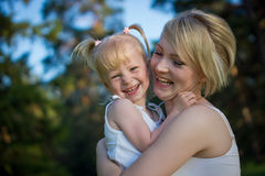 Happy mother and daughter. Picture of happy mother and daughter Royalty Free Stock Photos