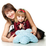 Happy mother and daughter playing Royalty Free Stock Image