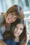 Happy mother and daughter. Portrait Stock Image