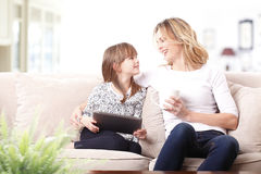 Happy mother and daughter Stock Images