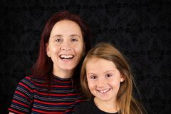 Happy mother and daughter portrait Royalty Free Stock Photos