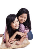 Happy mother and daughter posing Royalty Free Stock Photography
