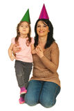 Happy mother and daughter ready for party Royalty Free Stock Photography