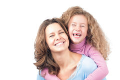 Happy mother and daughter smiling Stock Photography