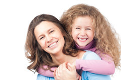 Happy mother and daughter smiling Royalty Free Stock Photography