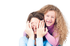 Happy mother and daughter smiling Stock Image
