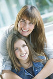 Happy mother and daughter. Smiling Royalty Free Stock Images