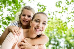 Happy mother and daughter royalty free stock image