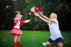 Happy mother and daughter on vacations Royalty Free Stock Image