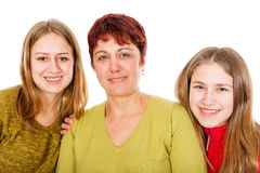 Happy mother with daughters Royalty Free Stock Photo