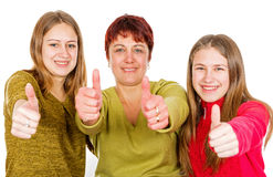 Happy mother with daughters Stock Photography
