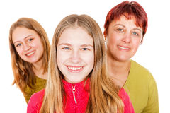 Happy mother with daughters Royalty Free Stock Photography