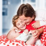 Happy mother and daugthers Royalty Free Stock Photo