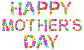 Happy Mother Day. Abstract Happy Mother Day Greeting Made From Spring Flowers vector illustration