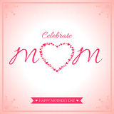 Happy mother day banner card with heart Royalty Free Stock Images