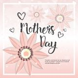 Happy Mother Day Card Background Template With Flowers And Copy Space Royalty Free Stock Photo