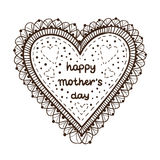 Happy mother day card concept. Heart element with text. Stock Image