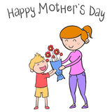Happy mother day character style vector illustration