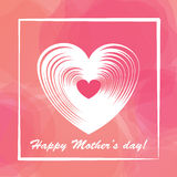 Happy mother day colorful background. Royalty Free Stock Photography