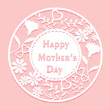 Happy mother day. Cute cartoon happy mother day for your concept Stock Photo