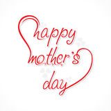 Happy mother day design vector Royalty Free Stock Images