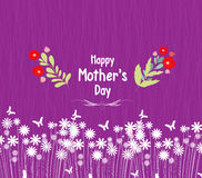 Happy mother day greeting card  flowers Stock Photo
