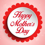 Happy Mother Day Heart Tag Background Stock Photography