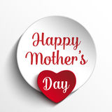 Happy Mother Day Heart Tag Background Royalty Free Stock Image