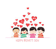 Happy mother day with kid funny Royalty Free Stock Photos