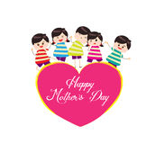 Happy mother day with kids Royalty Free Stock Photos
