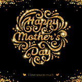 Happy Mother day lettering Greeting Card stock illustration