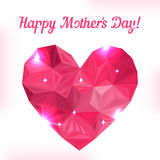 Happy Mother day. Love symbol. Pink origami heart Royalty Free Stock Photography
