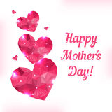 Happy Mother day. Love symbol. Pink origami heart Royalty Free Stock Photos