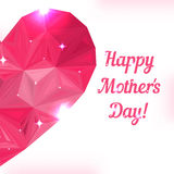 Happy Mother day. Love symbol. Pink origami heart Royalty Free Stock Images