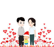 Happy mother day with my family Stock Photography