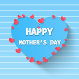Happy mother day paper style vintage , card invitation , love mo Stock Photos