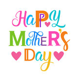 Happy Mother Day, Spring Holiday Greeting Card Banner. Flat Vector Illustration Royalty Free Stock Images
