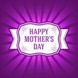 Happy Mother Day Template. Vector Elements. Isolated Ornament Gift Illustration. EPS10 Royalty Free Stock Photo
