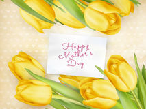 Happy Mother Day Tulips Flower. EPS 10 Stock Photos